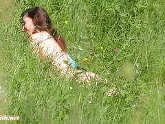 Jeny smith sun bathing naked in public