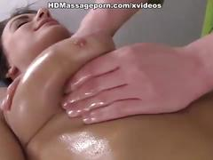 Man massages lizas  hot tits and her awesome tight nub