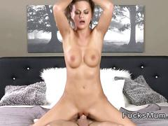 Young stud fucking stunning milf in bedroom