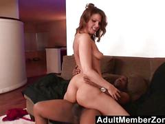 Adultmemberzone  fiery redhead wants the black boys giant dick