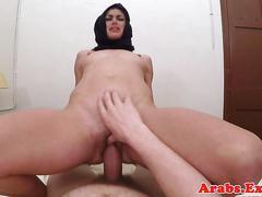 Arabian forbidden babe bouncing booty on cock