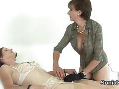 Unfaithful british milf lady sonia presents her huge hooters