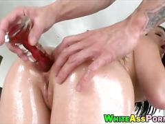 Stunning babe casey cumz gets ass ripped by huge cock