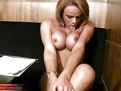 tranny, big ass, big dick, short hair, big balls, big tits, latina, office, blonde, jerking, lingerie, pretty face, thongs, shemale tugjobs, shemax network