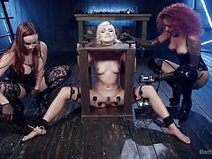 lesbians, babe, ebony, interracial, redhead, lesbian domination, lesbian threesome, electric wand, device bondage, electro bdsm, electro sluts, kink, eliza jane, daisy ducati, bella rossi