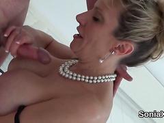 Unfaithful english milf lady sonia flaunts her oversized boobs film