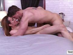 Latina ts savannah rides monster cock