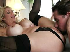 Big boobs stepmom fucking son secretly while