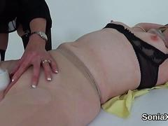 Unfaithful english mature gill ellis flashes her heavy titties