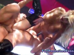 Busty blondes have a hardcore threesome