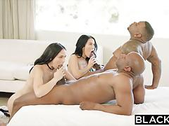 Blacked i caught my step sister with two black guys