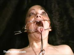 Face punished mature slave chinas dental gagged sadomasochist torments and humil