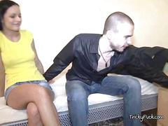 Chick dana gets mouth fucked by bfs friend