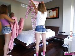 Bed party teens fucked and cum splashed