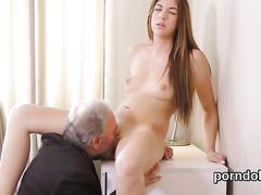 Nice college girl gets tempted and banged by her older instructor