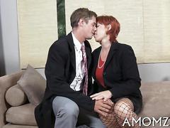 Mature slut sucks and rides video