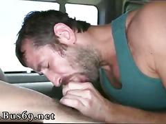 Horny gay dude is ready to suck a dick in the bus with pleasure