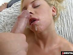 Filthy blonde fucked hard