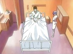 Hentai doll riding shaft in a hospital bed movie