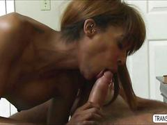 Sultry ts natissa gets a blending stroke and ass fuck with her bf