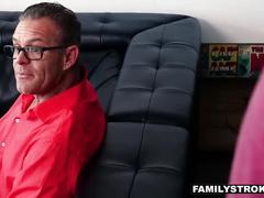 Familystrokes - hot milf fucks nerdy step-son on vacation