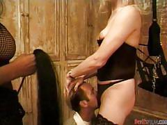 Trannies dominate one lucky dude @ transsexual prostitutes #08