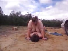 Mother & son have public sex & takes cum inside fat pussy