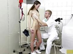 Petite teen gets a treatment from her dr