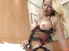 Mature shemale yenny strips n strokes