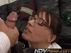 Nasty sex in the office with brunette secretary dana dearmond