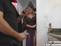 Milf cory catches her guest chad white jerking his bigcock