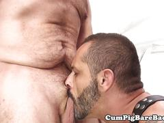 Mature bear cocksucked and barebacked by guy