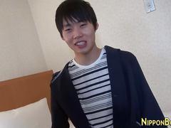 Asian teen jerking off asian
