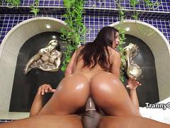 Tall big booty tgirl fuck black cock