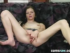 Slutty cam babe jena toys both holes with big sex toys