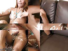 shemale, ladyboy, big tits, blowjob, handjob, asian, blonde, jerking, hairy, striptease, messy, whipped cream, titty fucking, ladyboy player, shemax network