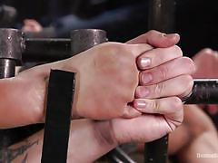 caning, bdsm, pussy fingering, brunette babe, device bondage, metal bondage, device bondage, kink, the pope, ariel x