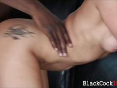 Katrina jade in high heels interracialed on the couch