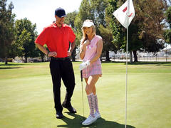 Teen karla kush fucks with golf instructor