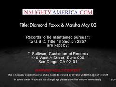 Marsha may & milf diamond foxxx fuck & suck in a threesome naughty america
