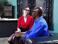 Riley reid tries to tame a big black dick