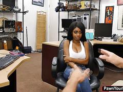 Busty ebony babe brittney white in a heated office fuck