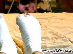 Horny uncut older men gay he films his adorable soles in a pair of plain cotton socks