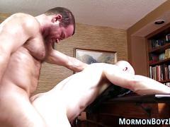bareback, old and young, anal, cumshot, bondage