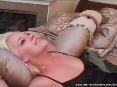 Deep throat and pussy fucking with hot blonde