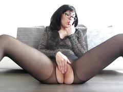 Thinking of your cock - wet pussy masturbation on cam and orgasm
