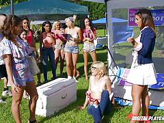 tattoo, babe, lesbian kissing, lesbian threesome, watching, outdoors, in public, digital playground, lesbian eating pussy, digital playground, haley reed, layla london, mila marx