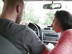 small tits, babe, rimjob, picked up, eating pussy, brunette, in car, sucking tits, wicked pictures, wicked pictures, july sun