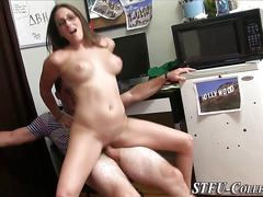 Teen slut riding cock