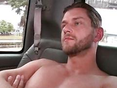 Sex amateur guy gets a big boner in the bus